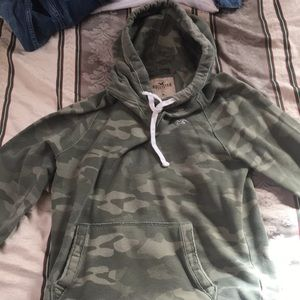 Camo hoodie.